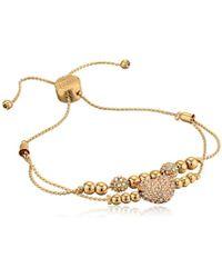 Guess - Duo Slider Close Bracelet With Heart (rose Gold) Bracelet - Lyst