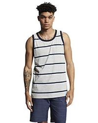 Hurley Dri-fit Harvey Stripe Tank Top - Gray