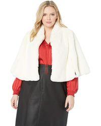 Betsey Johnson Size Faux Fur Cape - White