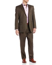 Jones New York Trent Two-button Side-vent Suit - Brown