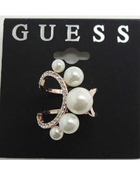Guess - S Cocktail Ring W/stones - Lyst