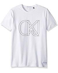 Calvin Klein - T-shirt - Lyst