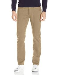 U.S. POLO ASSN. Slim Straight 5 Pocket Stretch Twill Jean - Natural
