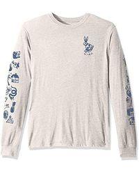 RVCA Pommier Sketchbook Long Sleeve T-shirt - Gray