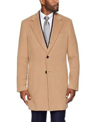 Buttoned Down Italian Wool Cashmere Overcoat - Natural