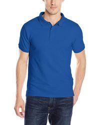 Izod Uniform Young S Short Sleeve Pique Polo - Blue