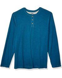 Lee Jeans Weekender Long Sve Henley - Blue