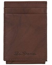 Ben Sherman - Leather Magnetic Closure Multi-card Money Clip (rfid) - Lyst