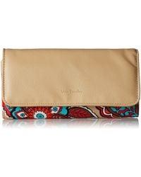 Vera Bradley Signature Cotton Audrey Wallet With Rfid Protection - Multicolor