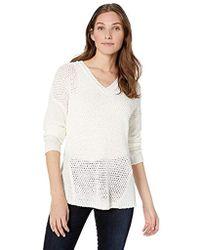 Calvin Klein - V-neck Open Stitch Sweater - Lyst