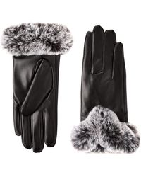 BCBGMAXAZRIA Faux Fur Cuff Glove - Black