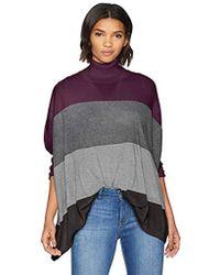 Calvin Klein - Color Block Dolman Cape, - Lyst