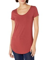Daily Ritual Jersey Short-sleeve Scoop-neck Longline - Red