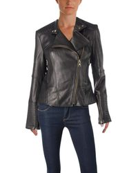 Vince Camuto Moto Leather Jacket - Black
