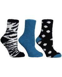 Steve Madden Legwear Cozy Sock - Blue