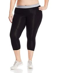 761176c165d Calvin Klein - Performance Plus Size Large Cut Off Logo Crop Legging - Lyst