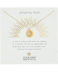 "Dogeared - Amazing Mom, Radiant Glass Pearl Disc Chain Necklace, 16""+2"" Extender - Lyst"