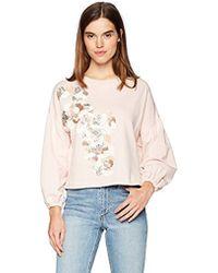 Parker Berniece 3/4 Sleeve Embellished Sweatshirt - Multicolor