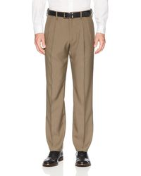 Franklin Tailored Expandable Waist Classic-fit Pleated Dress Pants - Brown