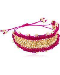 Sam Edelman Chainmail Macrame White Bracelet - Multicolor