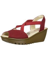 0056c542f03 Skechers - Parallel-piazza-peep Toe Gored Slingback Wedge Sandal - Lyst