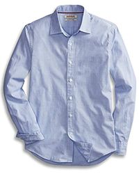 Goodthreads Amazon Brand - Slim-fit Long-sleeve Banker Striped Shirt - Blue