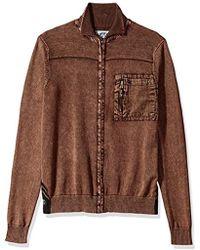 Buffalo David Bitton - Wipatch Long Sleeve Full Zip Fashion Sweater - Lyst