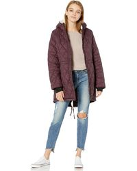 Steve Madden Quilted Anorak With Hood - Multicolor