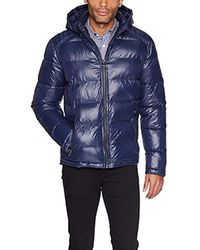 Guess Mid Weight Puffer Jacket - Blue