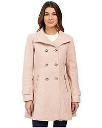 Jessica Simpson - Military Fit And Flair Wool Coat - Lyst