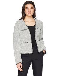 ELLEN TRACY Womens Petite Size Asymetrical Moto Jacket 2P E Black Combo