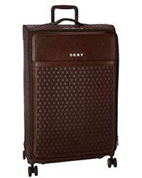 DKNY Signature Softside Spinner Luggage With Tsa Lock - Brown