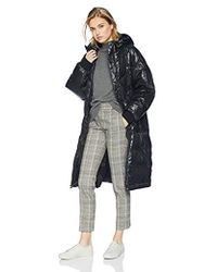 7 For All Mankind - Long Hooded Down Coat - Lyst