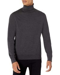 Calvin Klein The Extra Fine Merino Turtleneck Sweater - Gray