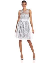 Donna Morgan - Libby Short Lace Fit And Flare - Lyst