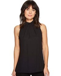 Ellen Tracy - Lace Back High Neck Shell - Lyst