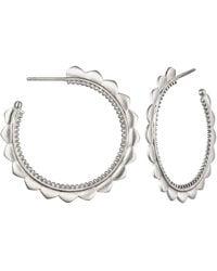 Satya Jewelry Petal Hoop Earrings - Metallic