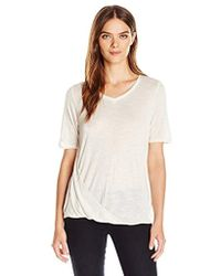 9427f8aad0526 Jones New York - Marled Easy V Neck With Side Drape - Lyst