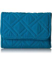 Vera Bradley Rfid Riley Compact Wallet - Blue