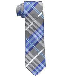 Geoffrey Beene Petros Plaid Ii Tie - Blue