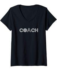 COACH V-neck - Black