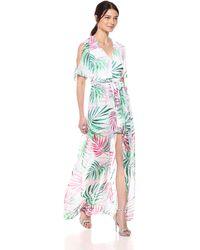 Kensie Tropical Print Walk Through - Green