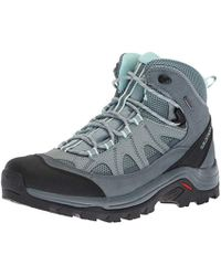 Yves Salomon Hime Mid Leather Climashield® Snow Boots in
