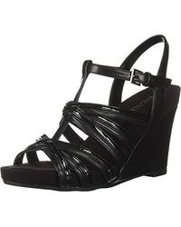 Aerosoles Right Plush Wedge Sandal - Black