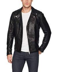 J.Lindeberg Moto Leather Jacket - Black