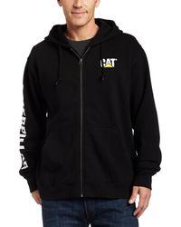 Caterpillar Men/'s Full Zip Hooded Sweatshirt Regular and Big /& Tall Sizes