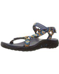 db2c37358fb0 Lyst - Skechers Women s Reggae Misty Morning Sandal in Blue