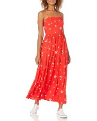 Goodthreads Georgette Smock-Back Cami Maxi Dress Dresses - Rosso