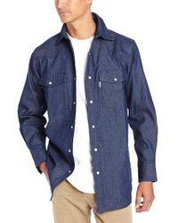 dc58111b6fb Lyst - Carhartt Big   Tall Ironwood Twill Work Shirt Snap Front ...