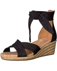 8f7f0434a04 UGG Denim Traci Espadrille Wedge Sandals in Black - Lyst